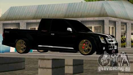 Isuzu D-Max X-Series для GTA San Andreas вид слева