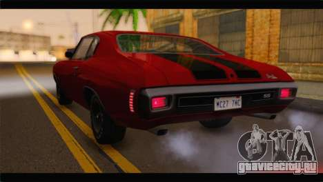 Chevrolet Chevelle 1970 Flat Shadow для GTA San Andreas вид слева