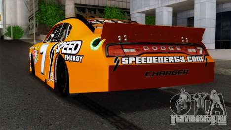 NASCAR Dodge Charger 2012 Short Track для GTA San Andreas вид слева