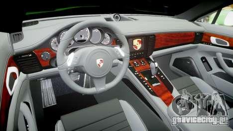 Porsche Panamera Turbo 2010 для GTA 4 вид сзади
