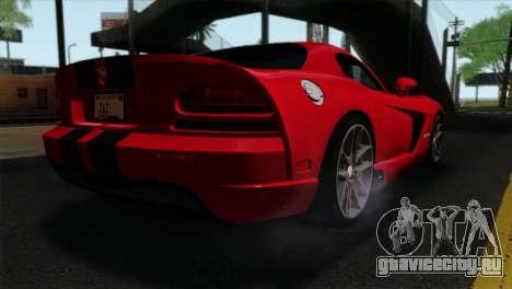 Dodge Viper SRT10 v1 для GTA San Andreas вид слева