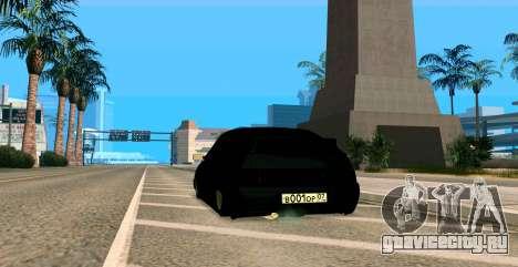 ВАЗ 2112 BUNKER для GTA San Andreas вид изнутри