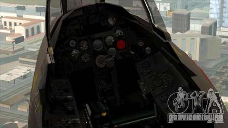 MIG-21MF Romanian Air Force для GTA San Andreas вид сзади