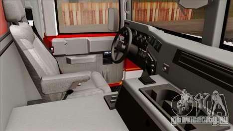 Hummer H1 Fire для GTA San Andreas вид справа