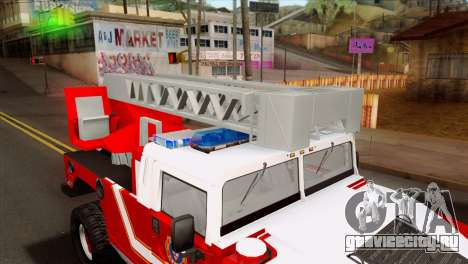Hummer H1 Fire для GTA San Andreas вид сзади
