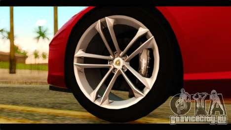 Lamborghini Estoque PJ для GTA San Andreas вид сзади слева
