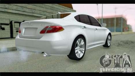 Infiniti M56 для GTA San Andreas вид слева
