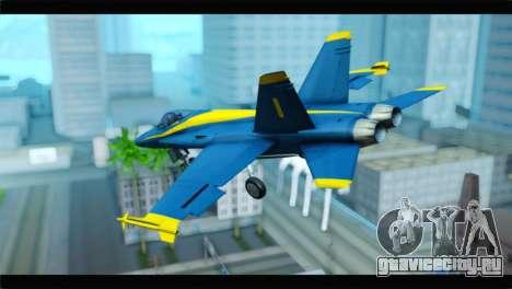 McDonnell Douglas FA-18 Blue Angel для GTA San Andreas вид слева