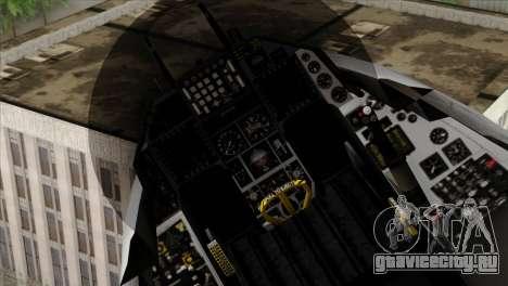 F-16D Fighting Falcon для GTA San Andreas вид справа