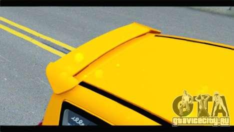 Citroen C2 для GTA San Andreas вид сзади