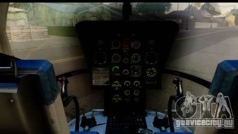 MBB Bo-105 Korean Army для GTA San Andreas вид сзади