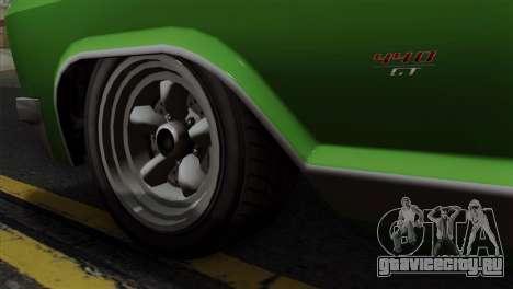 GTA 5 Albany Buccaneer IVF для GTA San Andreas вид сзади слева