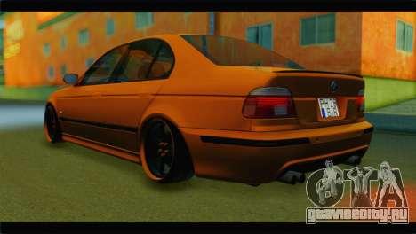 BMW M5 E39 Simply Cleaned для GTA San Andreas вид слева
