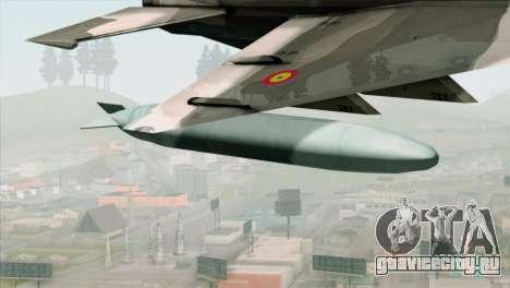 Hawker Hunter F6A для GTA San Andreas вид справа