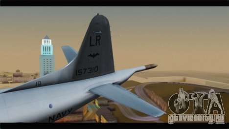 Lockheed P-3C Orion US Navy VP-24 для GTA San Andreas вид сзади слева