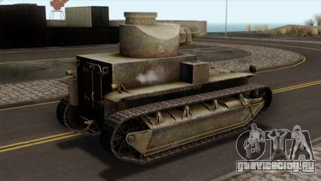 T2 Medium Tank для GTA San Andreas вид слева