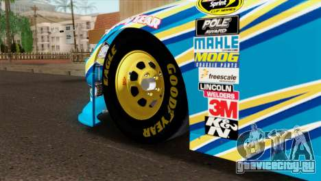 NASCAR Dodge Charger 2012 Plate Track для GTA San Andreas вид сзади слева