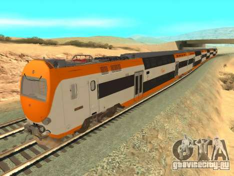 ONCF Ansaldo Breda Z2M (Серединный вагон) для GTA San Andreas вид сзади слева