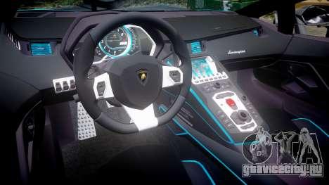 Lamborghini Aventador TRON Edition [EPM] Updated для GTA 4 вид изнутри