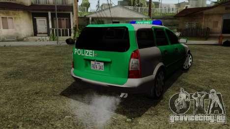 Opel Astra G 1999 Police для GTA San Andreas вид слева