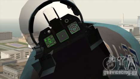 SU-47 Berkut Winter Camo для GTA San Andreas вид справа