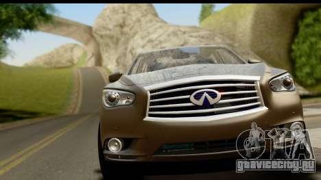 Infiniti JX 35 2013 для GTA San Andreas вид сзади слева