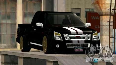 Isuzu D-Max X-Series для GTA San Andreas вид сзади
