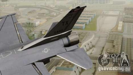 F-16D Fighting Falcon для GTA San Andreas вид сзади слева