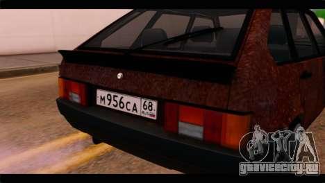 ВАЗ 2109 для GTA San Andreas вид сзади