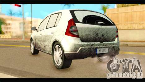 Dacia Sandero Dirty Version для GTA San Andreas вид слева