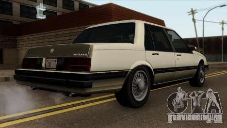 GTA 4 Willard II для GTA San Andreas вид слева