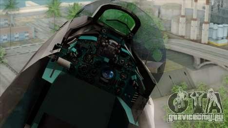 Hawker Hunter F6A для GTA San Andreas вид сзади