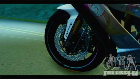 Kawasaki Ninja ZX-10R Super Sonico Itansha для GTA San Andreas вид сзади слева