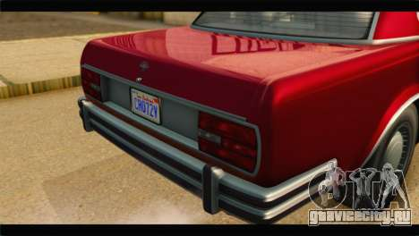 GTA 5 Benefactor Glendale IVF для GTA San Andreas вид сзади