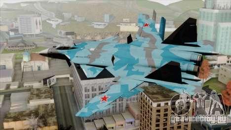 SU-47 Berkut Winter Camo для GTA San Andreas вид слева