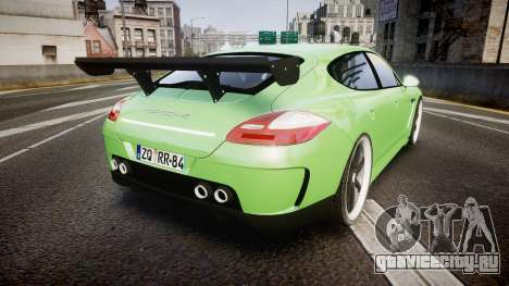 Porsche Panamera Turbo 2010 для GTA 4 вид сзади слева