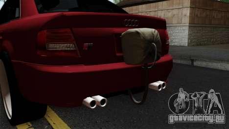 Audi S4 2000 Drag Version для GTA San Andreas вид сзади