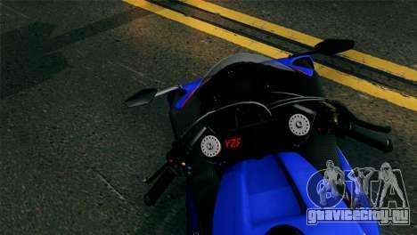Yamaha YZF-R1 PJ для GTA San Andreas вид сзади слева