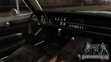 Dodge Charger 1968 для GTA San Andreas вид сзади слева