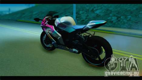 Kawasaki Ninja ZX-10R Super Sonico Itansha для GTA San Andreas вид слева