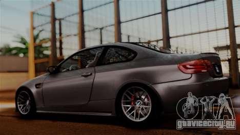 BMW M3 E92 GTS 2012 v2.0 Final для GTA San Andreas вид изнутри