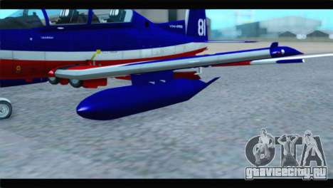 Beechcraft T-6 Texan II Red для GTA San Andreas вид справа