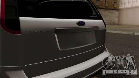 Ford Focus Wagon для GTA San Andreas вид сзади