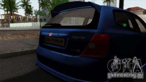 Honda Civic Type R EP3 для GTA San Andreas вид справа