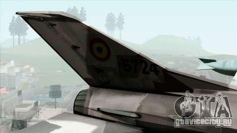 Hawker Hunter F6A для GTA San Andreas вид сзади слева
