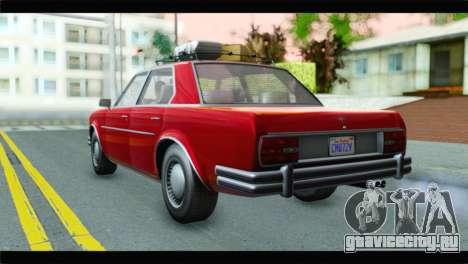 GTA 5 Benefactor Glendale для GTA San Andreas вид слева