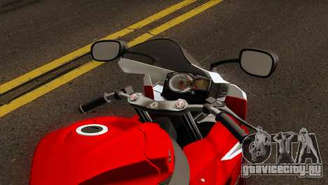 Suzuki GSX-R 2015 Red & White для GTA San Andreas вид справа