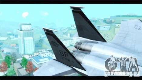 McDonnell Douglas F-15D Timberwolves Squadron для GTA San Andreas вид сзади слева