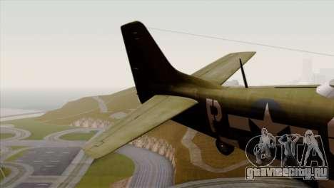 P-51D Mustang Da Quake для GTA San Andreas вид сзади слева