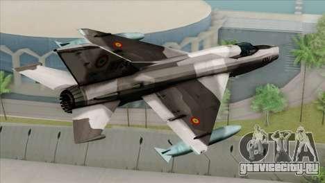 Hawker Hunter F6A для GTA San Andreas вид слева